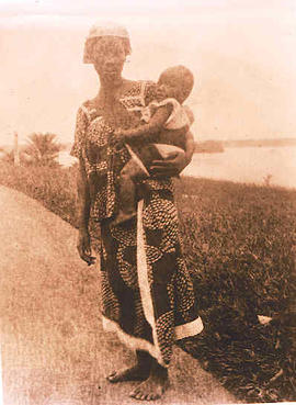 A African mother and child.