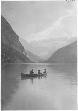 A boating scene on Lake Louise / 27866